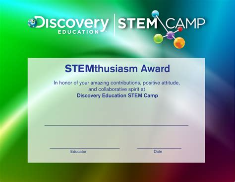 Stem Certificate Template by Stem C Water Course