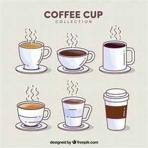 Tasse À Café Avec Support : ensemble de tasse caf de six avec de la vapeur t l charger des vecteurs gratuitement ~ Melissatoandfro.com Idées de Décoration