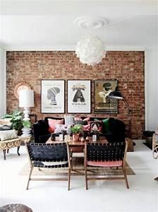 Mur Brique Salon : mur de briques dans le salon salon pinterest tags ~ Zukunftsfamilie.com Idées de Décoration