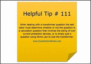 Electrical Exam Prep Tip  111