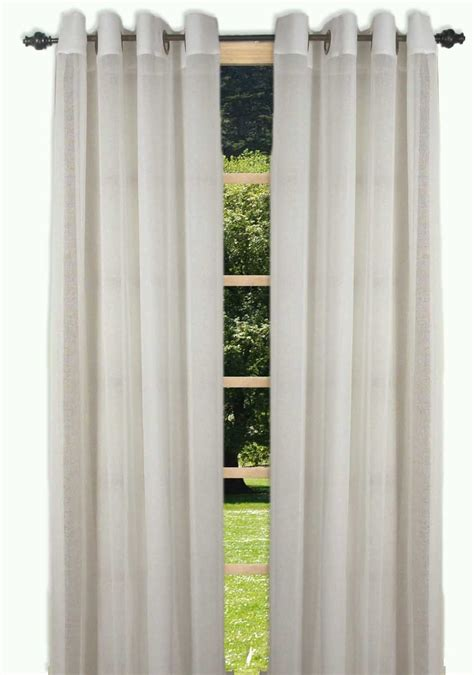 grommet curtains with sheers bal harbour semi sheer grommet curtain panel