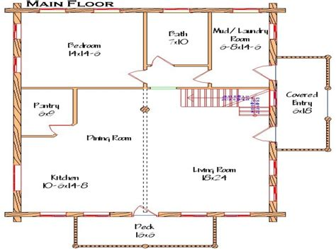 cabin floor plans basic open floor plans