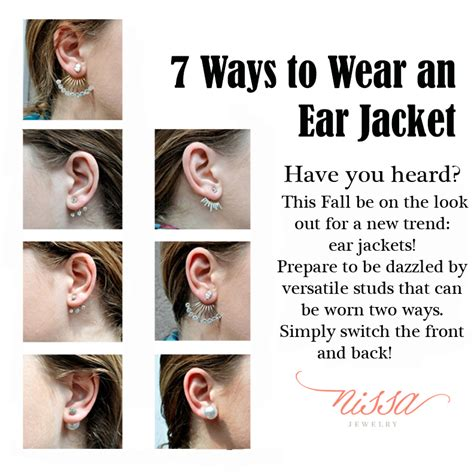 7 Ways To Wear An Ear Jacket  Nissa Jewelry