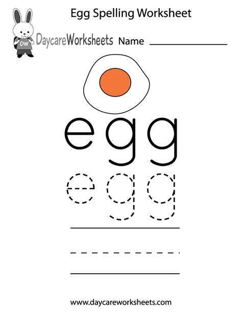 learn and practice how to spell the word egg using this