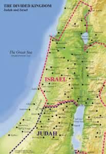 Ancient Israel Divided Kingdom Map