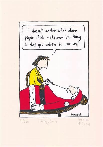 Therapy Santa Horacek Cartoon Judy Stockroom