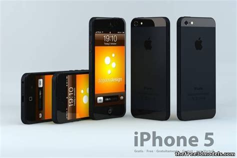 iphone 5 models iphone 5 3d model obj c4d