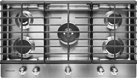 kitchenaid  built  gas cooktop stainless steel  pacific sales