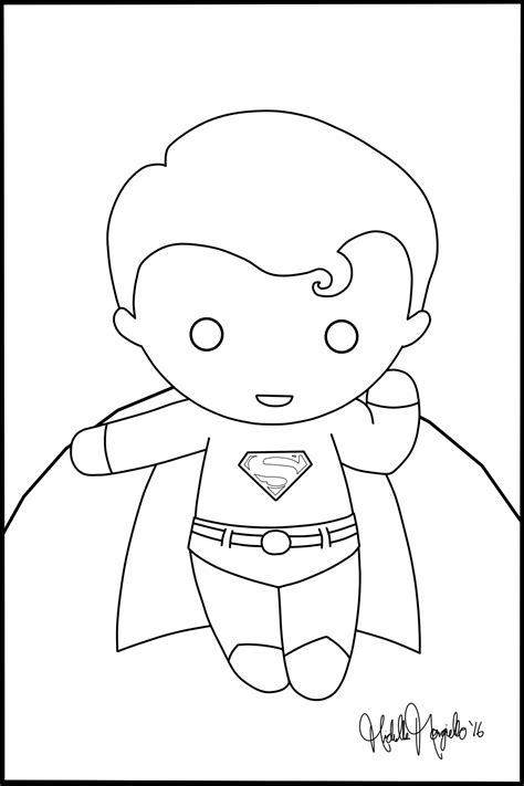 Chibi Superman Coloring Page By Kitty Stark On Deviantart