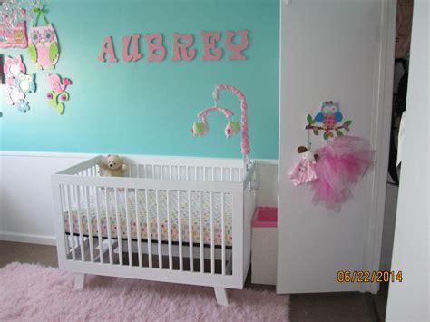aubreys tiffany blue  pink owl nursery project nursery