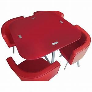 Table Et Chaises Scandinaves : table scandinave et chaises vintage 90 rouge pas cher scandinave deco ~ Teatrodelosmanantiales.com Idées de Décoration