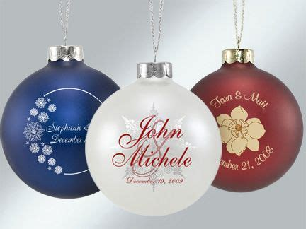 christmas ornaments wedding favors custom personalized