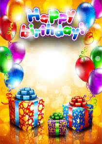 Free Happy Birthday Picture by Happy Birthday Postcard Template Free Vector