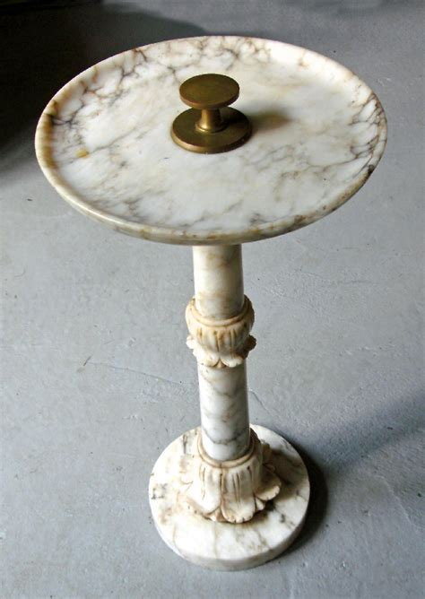 marble column table l italian white marble column stand table c1880 item