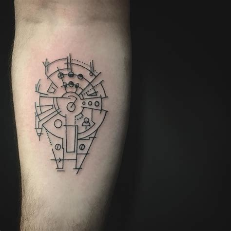 Star Wars Fan Simple Line Work Tattoo #tattoo #starwars