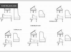 Piano & Grand Piano CAD blocks free download