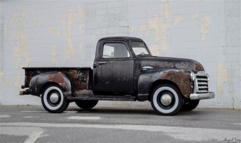 1950 gmc 100 3100 chevrolet chevy ad patina shop truck rat rod ls shortbed