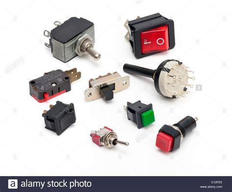 Various Electrical Switches Stock Photo Alamy