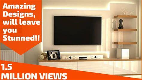 amazing ways  design  tv unit plan  design youtube