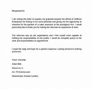 letter of assignment template 9 interview follow up letters to download sample templates