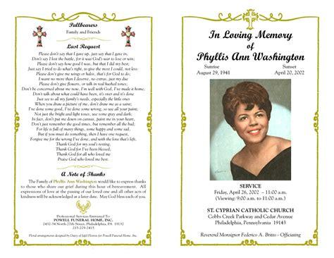 Memorial Brochure Template by Funeral Program Template Masir Future Templates