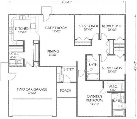 house plans 1500 square 1500 square house plans 4 bedrooms search