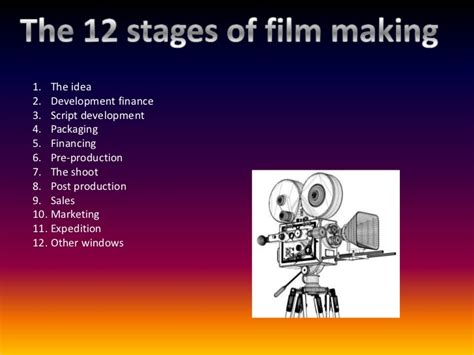 stages  film making