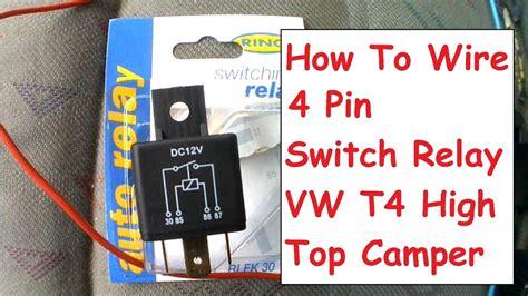 How Wire Pin Relay For Van Campervan Fridge