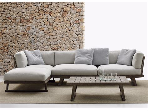 outdoor sofa with chaise gio sofa with chaise longue gio collection by b b italia