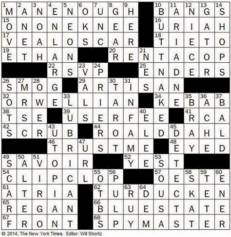cabinet dept crossword the new york times crossword in 08 02 14 the