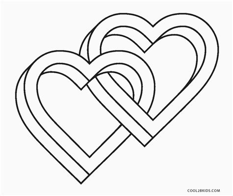 printable heart coloring pages  kids coolbkids