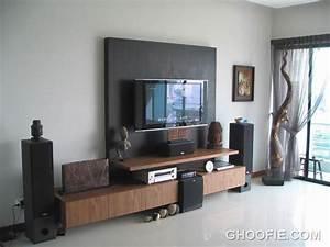 Simple minimalist furniture wall mounted tv interior