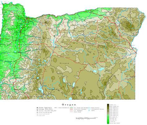 oregon contour map