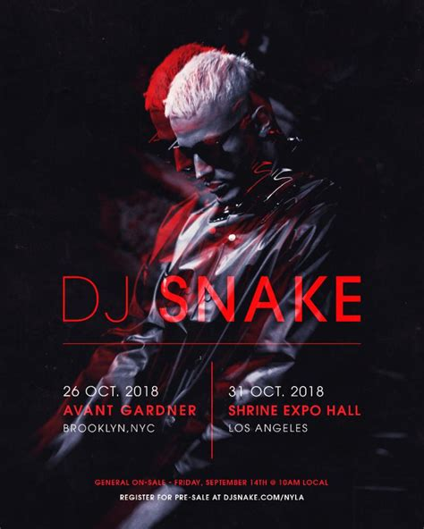 dj snake october 31 dj snake announces rare u s shows in nyc la this