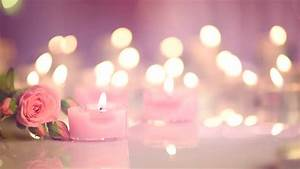 Candles Light Background Heart Shaped Valentine's Day