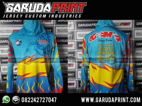 pembuatan baju jaket team merpati balap garuda print