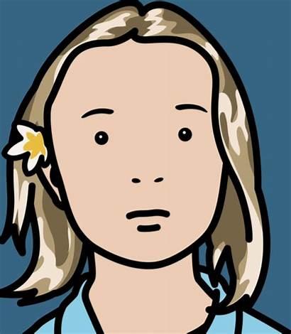 Opie Julian Elena Schoolgirl Pop Portrait Artwork