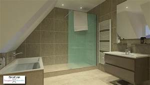 chambre avec salle de bain sous comble chaioscom With exemple de salle de bains sous comble