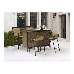 mainstays palmerton landing 5 bar height patio dining set seats 4 ebay