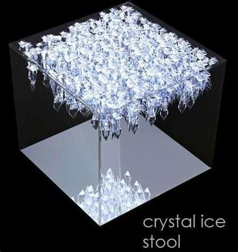 crystallized furniture glass encased crystal ice