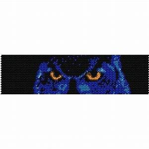 Check In Check Out Chart Midnight Owl Loom Beading Pattern For Cuff Bracelet