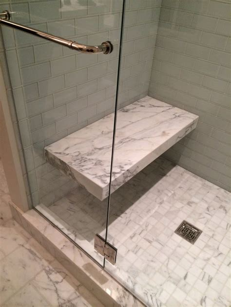 shower benches out of slab of drexel bathrooms