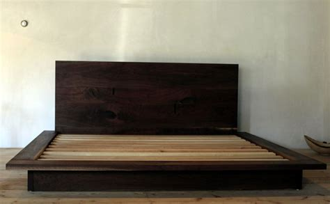 Black Walnut Platform Bed