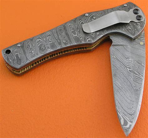 best home kitchen knives damascus folding liner lock knife custom handmade