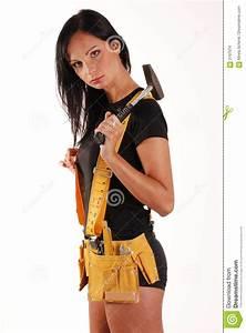 Builder Girl Stock Images