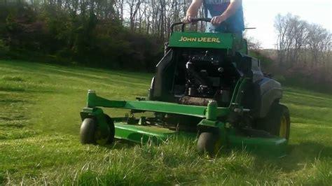 John Deere 667a Stander Commercial Lawn Mower, Mowing