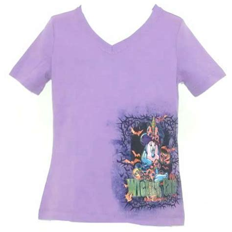 disney girls shirt halloween minnie mouse wicked cute