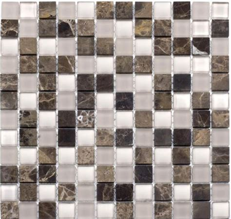 """They look unusual and bold, they will make. Marble Discount Rich Emperador Stone Glass Blend Mosaic Wall Tile 1"""" x 1"""" at Menards 