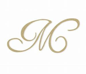 Cursive Monogram Letter - Large or Small, Unfinished ...