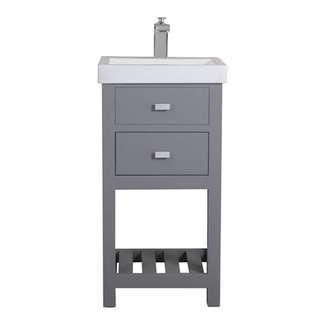 "The cabinet for the bathroom is an. Knighten 18"" Single Bathroom Vanity Set & Reviews 